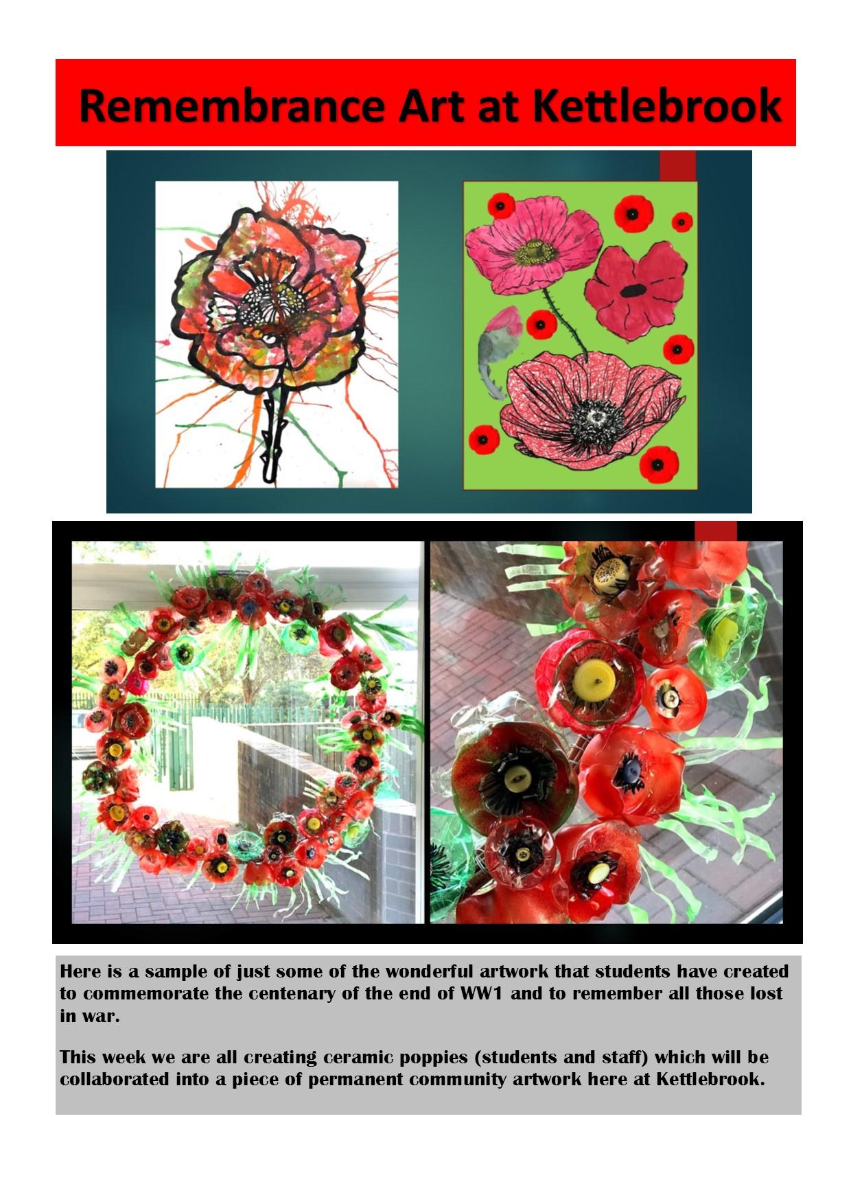 WW1 Poppy Art Work